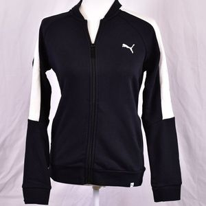 Puma French Terry Contrast Zip Up Track Jacket